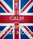 KEEP CALM AND DRINK CAPTAIN MORGAN  - Personalised Poster large