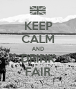 KEEP CALM AND DRINK FAIR - Personalised Poster large