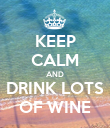 KEEP CALM AND DRINK LOTS OF WINE - Personalised Poster small