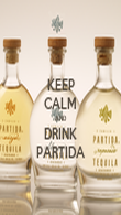 KEEP CALM AND DRINK PARTIDA - Personalised Poster large