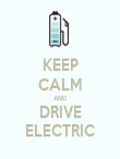 KEEP CALM AND DRIVE ELECTRIC - Personalised Poster large