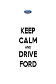 KEEP CALM AND DRIVE FORD - Personalised Poster large
