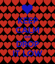 KEEP CALM and DROP IT LOW - Personalised Poster large