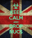 KEEP CALM AND DROP NUCS - Personalised Poster small