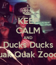 KEEP CALM AND Ducks Ducks Quak Quak Zooom - Personalised Large Wall Decal