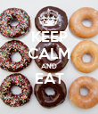 KEEP CALM AND EAT  - Personalised Poster large