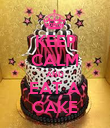 KEEP CALM AND EAT A CAKE - Personalised Poster large