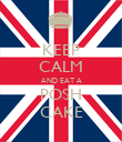 KEEP CALM AND EAT A POSH CAKE - Personalised Poster large