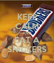 KEEP CALM AND EAT A SNICKERS - Personalised Poster small