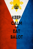 KEEP CALM AND EAT BALOT - Personalised Poster large