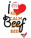 KEEP CALM AND EAT BEEF - Personalised Poster large