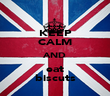 KEEP CALM AND eat biscuts - Personalised Poster large