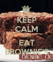 KEEP CALM AND EAT BROWNIE'S - Personalised Poster large