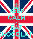 KEEP CALM AND EAT CHOCOLATE - Personalised Poster large