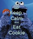 Keep  Calm And Eat Cookie - Personalised Poster large