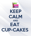 KEEP CALM AND EAT  CUP-CAKES  - Personalised Poster large