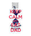 KEEP CALM AND EAT DAD - Personalised Poster large