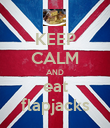 KEEP CALM AND eat flapjacks - Personalised Poster small