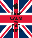 KEEP CALM AND EAT FUFU - Personalised Poster large