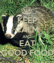 KEEP CALM AND EAT GOOD FOOD - Personalised Poster large