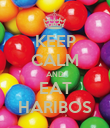 KEEP CALM AND EAT HARIBOS - Personalised Poster large