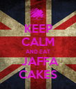 KEEP CALM AND EAT  JAFFA CAKES - Personalised Poster large