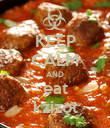 KEEP CALM AND eat kzizot - Personalised Poster large