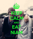KEEP CALM AND EAT NIAM - Personalised Poster large