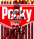 KEEP CALM AND EAT POCKY - Personalised Poster large