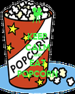 KEEP CALM AND EAT POPCORN - Personalised Poster large