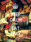 KEEP CALM AND EAT TWIX - Personalised Poster large