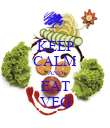 KEEP CALM AND EAT VEG - Personalised Poster large