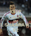 KEEP CALM AND EL SHAARAWY 92 - Personalised Poster large