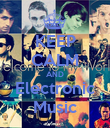 KEEP CALM AND Electronic Music - Personalised Poster large