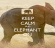 KEEP CALM AND ELEPHANT ON - Personalised Poster large