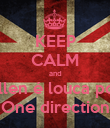 KEEP CALM and Ellen é louca por One direction - Personalised Poster large