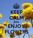 KEEP CALM AND ENJOY FLOWERS - Personalised Poster large