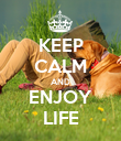 KEEP CALM AND ENJOY LIFE - Personalised Large Wall Decal