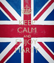 KEEP CALM AND ENJOY  MARTY - Personalised Poster large