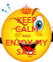 KEEP CALM AND ENJOY MY SALE - Personalised Poster large