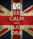 KEEP CALM AND ENJOY ORA - Personalised Poster large