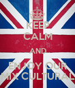 KEEP CALM AND ENJOY OUR MIX CULTURAL - Personalised Poster large