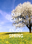 KEEP CALM AND ENJOY SPRING - Personalised Poster large