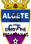 KEEP CALM AND ENJOY THE ESPARTANAS - Personalised Poster large