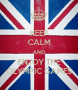 KEEP CALM AND ENJOY THE OLYMPIC GAMES - Personalised Poster large