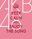 KEEP CALM AND ENJOY THE SONG - Personalised Poster large