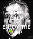 KEEP CALM AND ENJOY THE TRIP - Personalised Poster large
