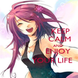 KEEP                    CALM                            AND                   ENJOY             YOUR LIFE - Personalised Poster large