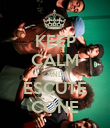 KEEP CALM AND ESCUTE CONE - Personalised Poster large