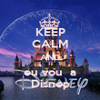 KEEP CALM AND eu vou  a Disnep - Personalised Poster large